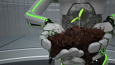 Eco Robot Hands Seedling
